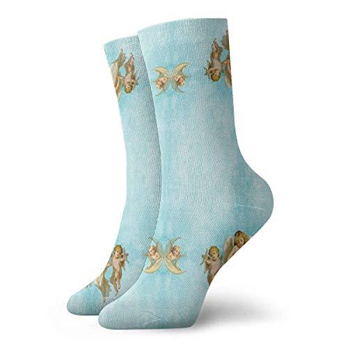 leyhjai Calcetines atléticos verdes de plantas tropicales, calcetines unisex de media pantorrilla