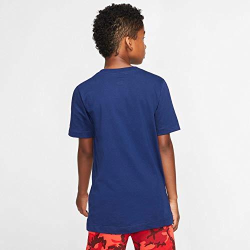 Nike Kinder NSW Air Box T-Shirt, Blue Void/White, S