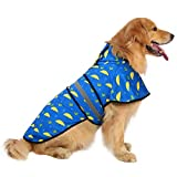 HDE Dog Raincoat Hooded Slicker Poncho for Small to X-Large Dogs and Puppies (Umbrellas & Boots, Large)