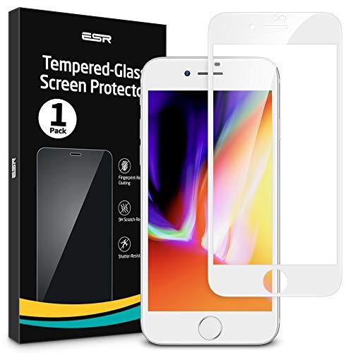 ESR Protector de Pantalla para iPhone 8/7/6s/6 [1 Unidad][Cobertura Pantalla Completa][Cristal Curvado...
