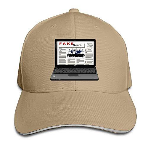 CHKWYN Baseball Cap Polo Safari Dad Hat Peaked Cap Fake News Internet Laptop