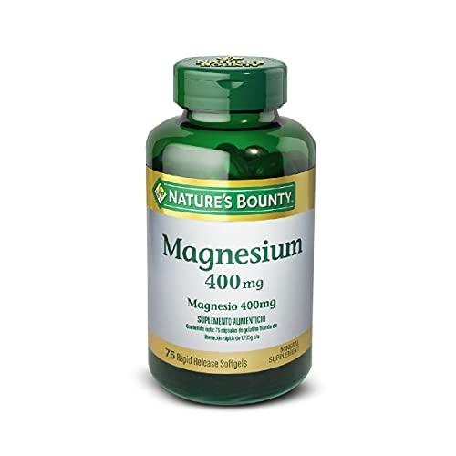 Nature's Bounty Magnesium 400 mg, 75 Softgels