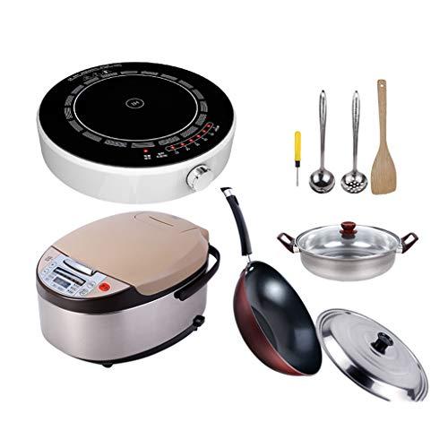 Hot Plates Cocina de inducción Redonda de Ahorro de energía, Estufa eléctrica...