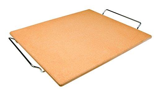 Ibili 784338 - Pietra per pizza, rettangolare,38 cm x 30 cm x 1 cm, colore: arancione