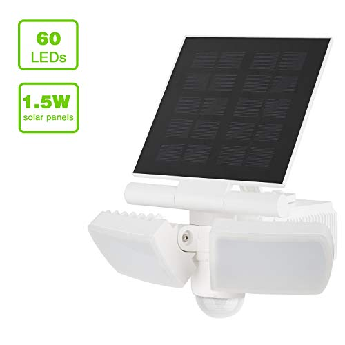 Luces solares LED exteriores sensor movimiento, 8W