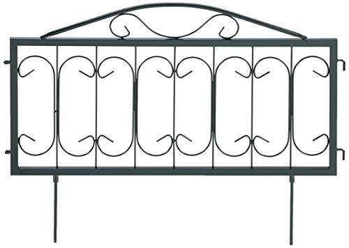 Relaxdays 10020696_469 Bordura per Aiuola in Metallo Set da 4 Stile Gotico Vintage Recinzione Giardino 4 Pannelli 34,5 x 56,5 cm Nero