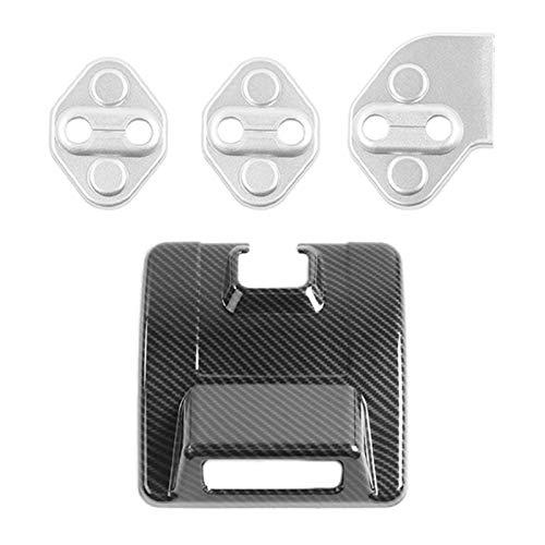 SHOUNAO 4 PCS Accesorios para Automóviles: 1 PCS Coche Vista Trasera Espejo Base De La Cubierta Y 3 PCS Interruptores De Bloqueo De La Puerta Adornado (Color : Picture Color)