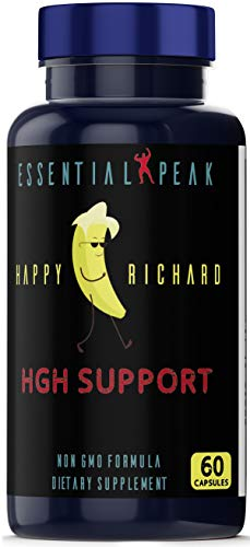 HGH Support Supplement, Non GMO, for Men & Women Increase Muscle Mass and Bone Density, Decrease Body Fat 60 Capsule Pills by Essential Peak