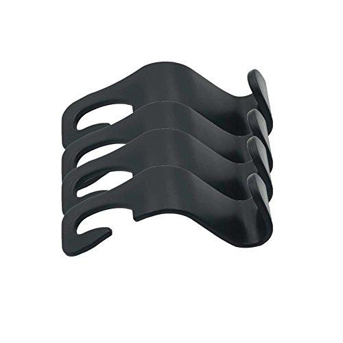 SCHITEC 4 Stück Autositz Zurück Haken -Sitz Kopfstütze Tragbare Veranstalter Inhaber Haken Einkaufen Rucksack Reisen Fahrzeug Auto Sicherheit Hängen Haken