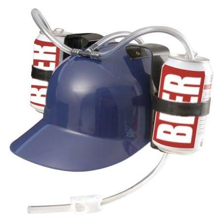 Casco Cappello Elmetto Per Bibite Per Feste Party Porta Lattine Con Visiera