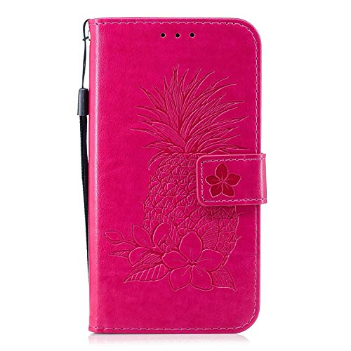 Find Discount Herbests Compatible with Huawei Mate 10 Pro Wallet Case Emboss Pineapple Folio Magneti...