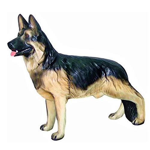XL Premium Schäferhund Steht in lebensgross 95cm Hund Garten Deko Figur inkl. Lieferung per Spedition