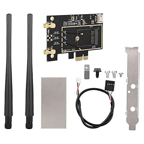 Yuyanshop Tarjeta M.2 NGFF, M.2 NGFF a PCI-E 1X escritorio WiFi WLAN adaptador convertidor de tarjeta de red para 8260 7265 1535 7260