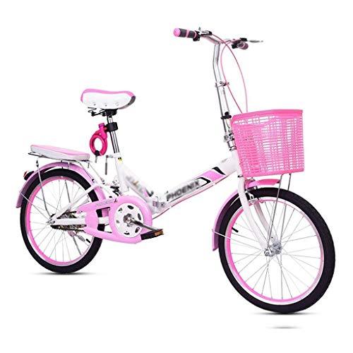 Fahrräder, 20 Zoll, Faltrad, Fahrrad Adult Pedal Fahrrad, Student Exercise Bike Damen Fahrrad