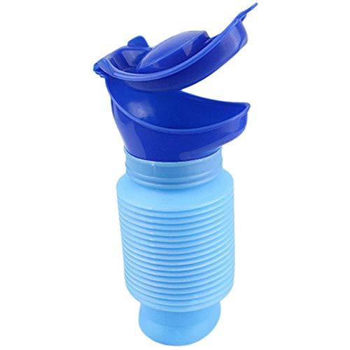 Zitong Notfall-Urinal - Tragbares Mini-Urinal-Töpfchen, Camping-Reisen Im Freien Schrumpfbare Persönliche Mobile Toilette Töpfchen-PIPI-Flasche Für Kinder Erwachsene (750 Ml)