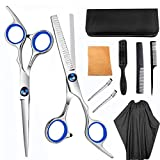 9pcs Hair Cutting Tool Hairdressing Kit Haircut Scissors Thinning Shear Comb Hairpin Bangs
