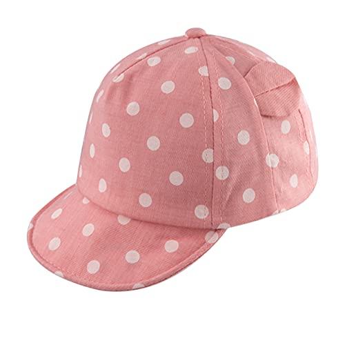 XIAOHAWANG Dot Partten Baby Caps Summer Girl Boys Sun Hat with Ear Spring Summer Newborn Photography Props (Pink)