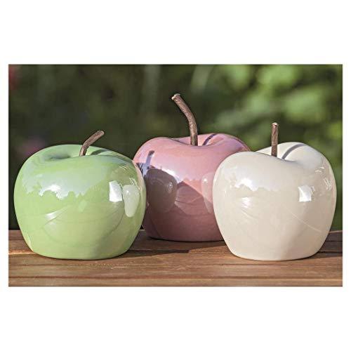 B.o.l.t.z.e 3 x Apfel Perly Porzellan Ø 7,5 cm
