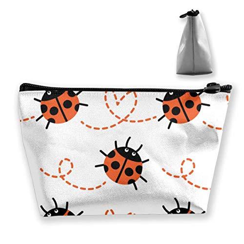 Ladybug Seamless Pattern Image Bolso Trapezoidal Personalizado Damas Impermeable para Llevar Viajes