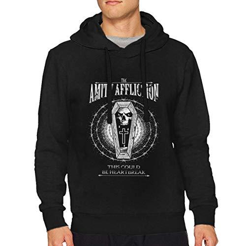 The Amity Affliction Misery Men's Essential Hoodie Sweatshirt Man Clothing Black