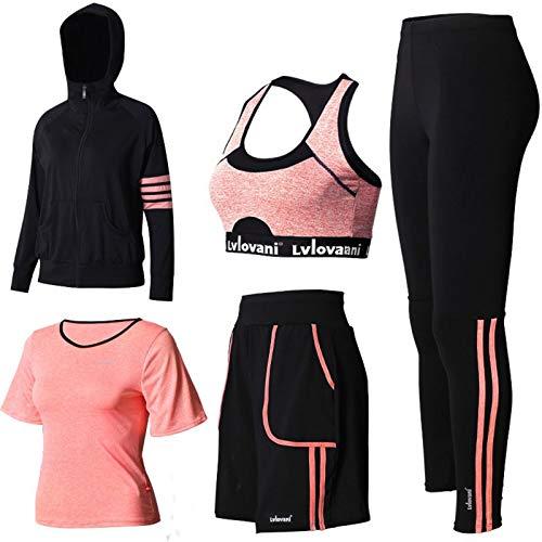 Conjunto De Yoga para Mujer Conjunto De Ropa Deportiva para Mujer Top De Running De Manga Larga Pantalones De Cintura Alta Yoga Gym Wear B,L