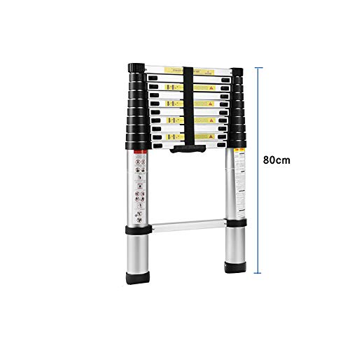 Telescoping Ladder 10.5 ft, Aluminum Extension Ladders for Home Use Roof RV Outdoor Activities/US Shipping 3-5 Days