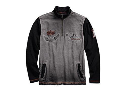 HARLEY-DAVIDSON Men's Iron Block 1/4-Zip Pullover, 99009-17VM, M