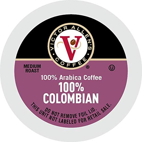 Victor Allen Coffee, 100% Colombian Single Serve K-cup, 200 Count (Compatible with 2.0 Keurig Brewers)