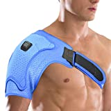 Heated Shoulder Brace Support Wrap, 3 Heat Settings, Heating Pad Support Brace