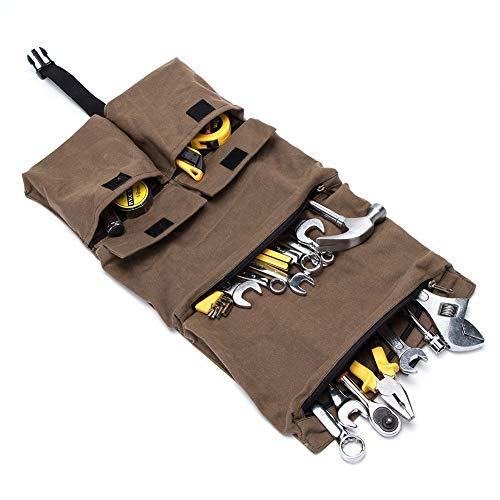 Rollo de herramientas resistente, bolsa de herramientas,organizador de lona para herramientas, bolsa enrollable para herramientas, bolsa de aseo para colgar, kit de artículos de aseo de viaje