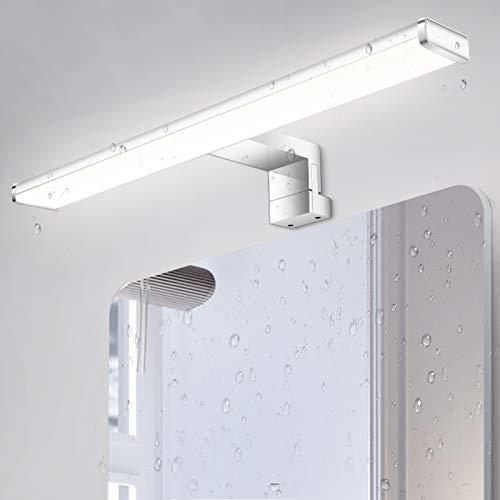 LED Spiegelleuchte 40cm, 8W 650Lm Oeegoo Spiegellampe, IP44 Wasserdichte Badleuchte als Schminklicht, Schrank-Beleuchtung, Badspiegel Lampe, Wandleuchte 4000K