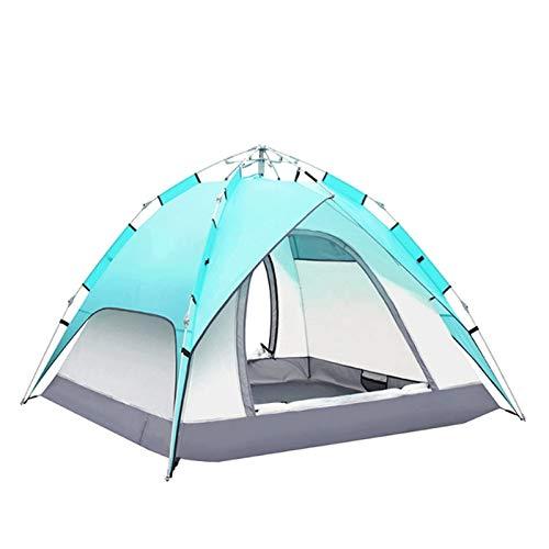 WBJLG Tienda de campaña Carpas automáticas para Exteriores Carpas Impermeables para Acampar 3-4 Personas Carpa Plegable portátil Playa Camping Viajes Caza al Aire Libre
