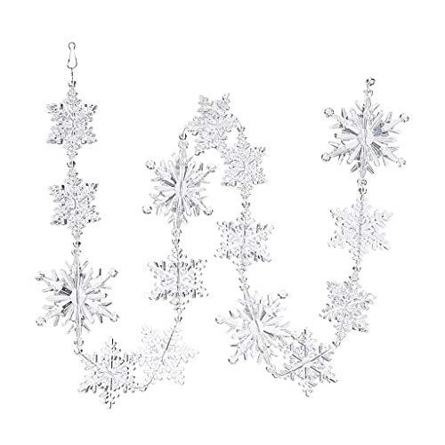 Floweworld Weihnachten Hängen Anhänger Hause Dekorative Acryl Kristall Schneeflocke Perle Girlande Vorhang Hochzeit Party Decor