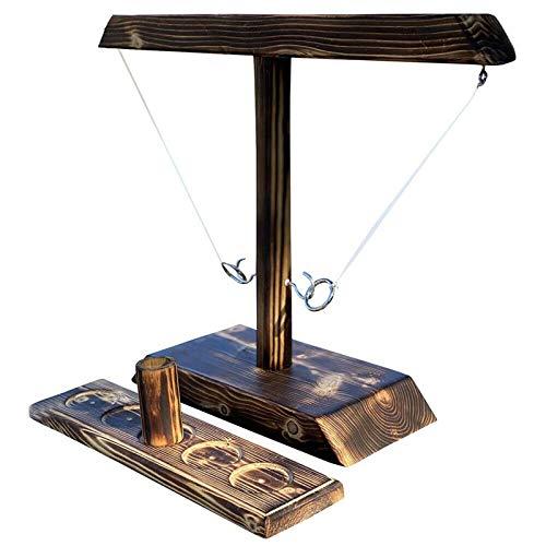 LQKYWNA Hooks Ring Toss Game, Toss Haken & Ring Spiel, Handheld-brettspiele Mit Shot Ladder B&le Schnelle Interaktive Yard-Spiele Für Kinder Erwachsene