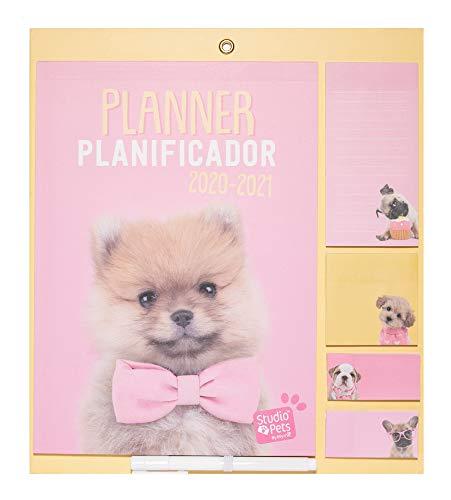 ERIK - Planificador mensual con imán para nevera 2020/2021 Studio Pets Dog, 30x34 cm