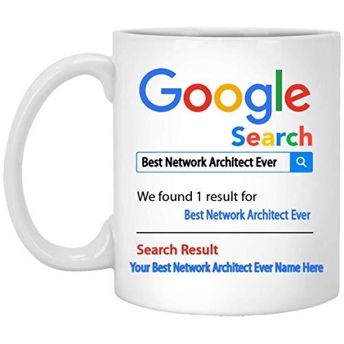 Taza de café personalizada con el mejor arquitecto de red de todos los tiempos - Nombre personalizado Regalos de arquitecto de red - Regalo para el arquitecto de red - Cesta de agradecimiento
