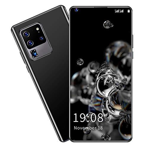 Smartphone, S30U Pro 6.82in HD Perforado Pantalla Completa Reconocimiento Facial Teléfono Tarjeta Dual Doble Modo de Espera Desbloqueado Teléfono Celular 2GB + 16GB(Negro)