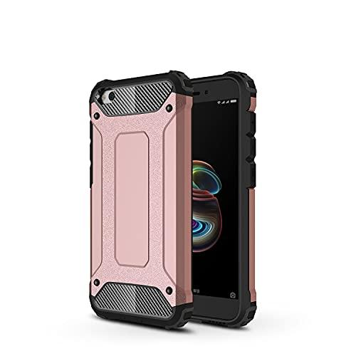 Carcasa de telefono Funda protectora para Xiaomi Redmi Go Case, TPU + PC Parachoques Dual Capa de doble capa protectora híbrida a prueba de golpes. Funda trasera para smartphone ( Color : Rose Gold )