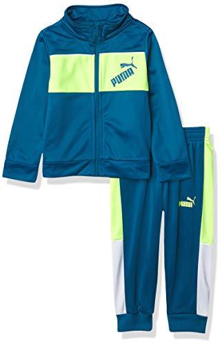 PUMA Boys' Track Jacket & Jogger, Blue, 2T