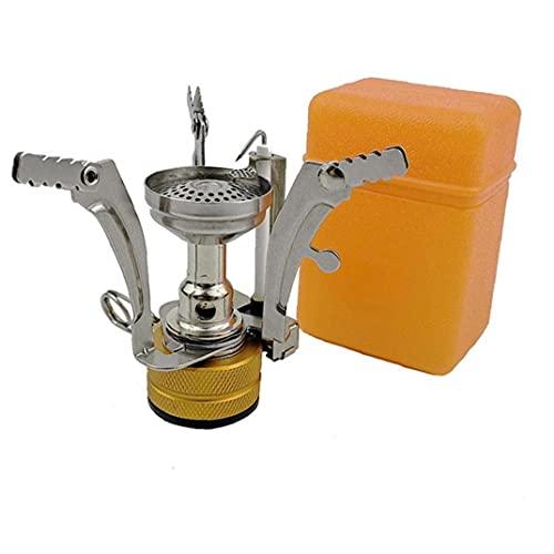 Estufa de Gas Ligeramente portátil Camping de Acampar Estufa para cocinar al Aire Libre Senderismo Pesca Mochilero Naranja