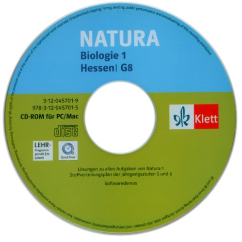 Natura 1. Biologie für Gymnasien (G8). 5./6. Schuljahr. Neubearbeitung. Hessen. Lösungen auf CD-ROM. G8. Lösungen auf CD-ROM  (Lernmaterialien)