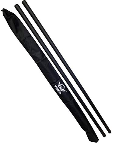 Foam Padded Training Bo Staff with Free Armory Carry Bag Case (Black/Pair, 5 ft.)