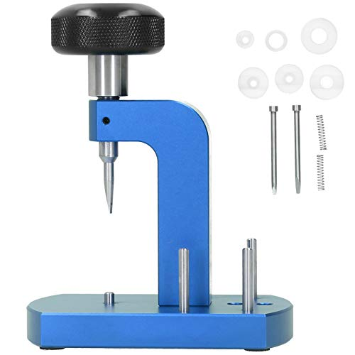 DAUERHAFT Mire la máquina de Apertura de la contraportada Exquisita Mano de Obra Reloj de la contraportada Abridor de aleación Caja Fuerte, para Fabricantes de Relojes(Blue)