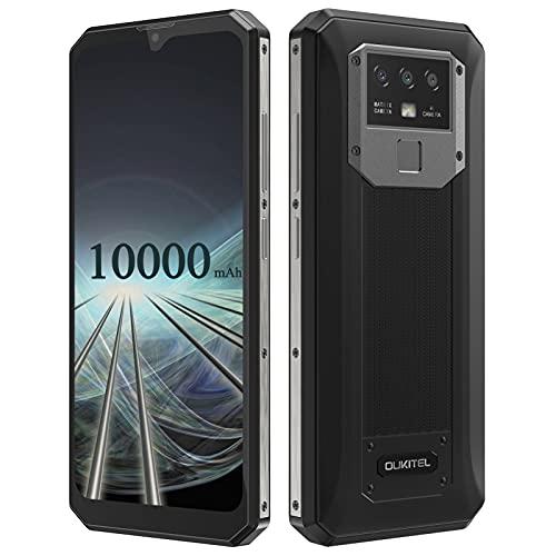 OUKITEL K15 Plus 10000mAh Batteria Cellulare in Offerta 6.52 Pollici HD+ Schermo Smartphone Offerta, Android 10 3GB + 32GB 4G Dual SIM Telefoni Cellulari, Face ID e Impronta Digitale GPS Nero