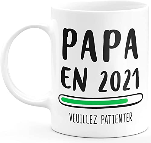 Taza original para anunciar embarazo, papá, nacimiento, niño o padre (papá)