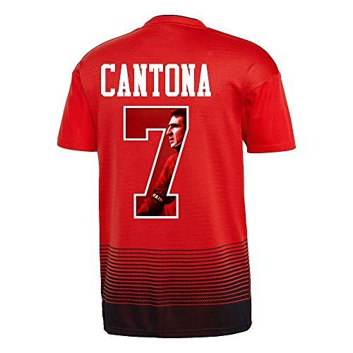 Man Utd Home Trikot 2018 2019 + Cantona 7 (Gallery Style) - XS