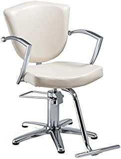 Standish Salon Goods Veronica Salon Chair, White, 5-Star Base