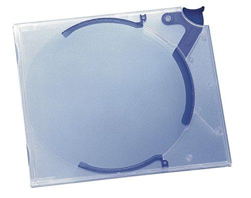 Durable 528806 CD-Hardbox Quickflip Standard (für 1 CD, PP, 142 x 126 x 29 mm) 10 Stück transp./blau
