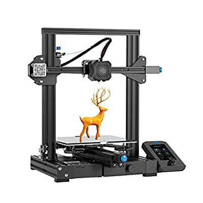 Official Creality Ender3 V2 3D Printer with Silent Motherboard Meanwell Power Supply Caborundum Glass Plate and Resume Printing 220X220X250mm