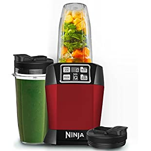 Nutri Ninja 1000W Blender with Auto-iQ - BL480UKMR - Red:Porcelanatoliquido3d